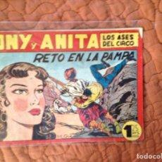 Tebeos: TONY Y ANITA-LOS ASES DEL CIRCO-Nº91. Lote 137408662