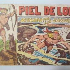 Tebeos: PIEL DE LOBO Nº 45, ACOSADO POR LOS ESCUALOS, AÑO 1959, ORIGINAL, EDITORIAL MAGA. Lote 138991358