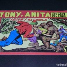 Tebeos: COMIC TONY Y ANITA - LOS ASES DEL CIRCO - EN YEGOR Y EL GORILA - NÚMERO 136. Lote 139226390