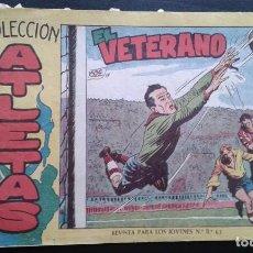 Tebeos: TEBEO / CÓMIC MAGA ATLETAS N 1 ORIGINAL 1959 FÚTBOL EL VETERANO COLECCIÓN. Lote 139750890