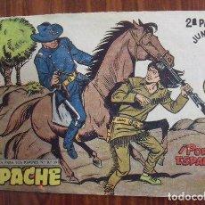Tebeos: COMIC TEBEO APACHE 2ª PARTE - ¡POR LA ESPALDA! - Nº II - 71 - EDITORIAL MAGA - 2 PESETAS. Lote 140280850