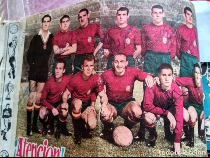 Tebeos: Excepcional 41 ejemplares encuadernados de oliman.autografos originales de jugadores de la seleccion - Foto 11 - 108690587