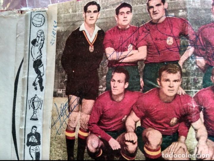 Tebeos: Excepcional 41 ejemplares encuadernados de oliman.autografos originales de jugadores de la seleccion - Foto 12 - 108690587