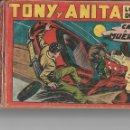 Tebeos: TONY Y ANITA, AÑO 1.951. COLECCIÓN COMPLETA SON 153 TEBEOS ORIGINALES DIBUJOS M. QUESADA EDITORIAL M. Lote 140672402