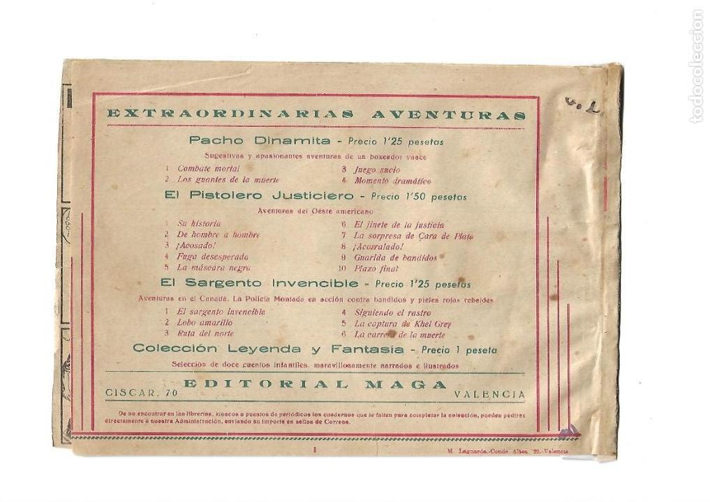 Tebeos: Pacho Dinamita, Año 1.951. Colección Completa son 139 Tebeos Originales es muy dificil de Completar. - Foto 3 - 140588382