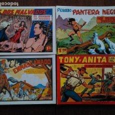 Tebeos: LOTE PANTERA NEGRA TONY Y ANITA MILTON EL CORSARIO EL HOMBRE DE PIEDRA. Lote 142014782