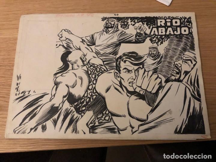 RAYO DE LA SELVA, Nº 40, COMPLETO,ED MAGA 1960 (PORTADA + 10 PÁGINAS), PLANCHAS ORIGINALES,CAJA/02 (Tebeos y Comics - Maga - Rayo de la Selva)
