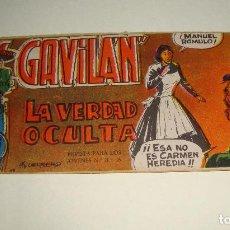 Tebeos: COMIC EL GAVILAN LA VERDAD OCULTA Nº 19 ORIGINAL. Lote 143019182