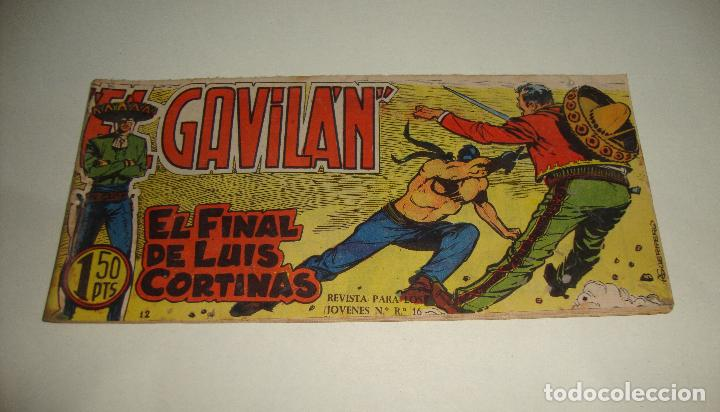 COMIC EL GAVILAN EL FINAL DE LUIS CORTINAS Nº 12 ORIGINAL (Tebeos y Comics - Maga - Otros)