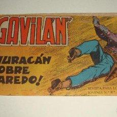 Tebeos: COMIC EL GAVILAN HURACAN SOBRE LAREDO Nº 9 ORIGINAL. Lote 143019226