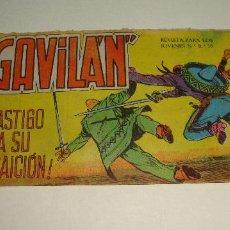 Tebeos: COMIC EL GAVILAN CASTIGO A SU TRAICION Nº 7 ORIGINAL. Lote 143019254