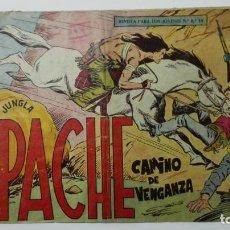 Tebeos: APACHE Nº 19, EDITORIAL MAGA, AÑO 1958, ORIGINAL. Lote 144348814