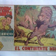 Tebeos: TONY Y ANITA Nº 18 EL CONTINENTE NEGRO. Lote 144846098