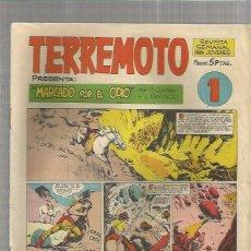 Tebeos: TERREMOTO ORIGINAL Nº 1. Lote 147513450