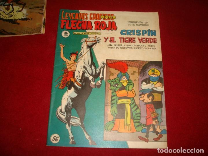 FLECHA ROJA Nº 56 EDITORIAL MAGA 1962 MUY BUEN ESTADO (Tebeos y Comics - Maga - Flecha Roja)