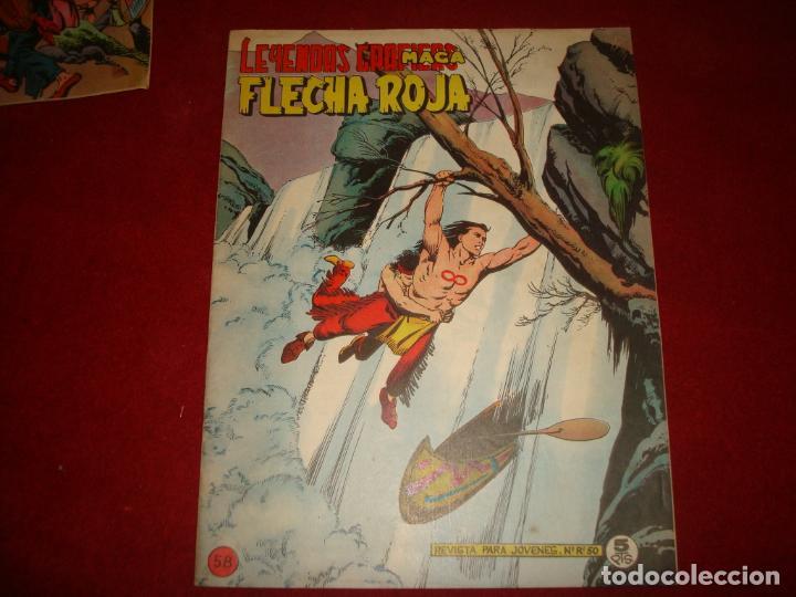 FLECHA ROJA Nº 58 EDITORIAL MAGA 1962 MUY BUEN ESTADO (Tebeos y Comics - Maga - Flecha Roja)