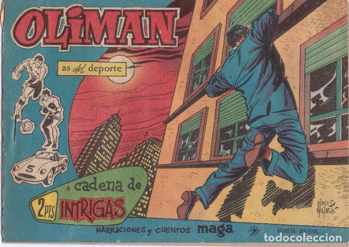 OLIMAN Nº 41 **** CONTRAPORTADA REAL JAEN (Tebeos y Comics - Maga - Oliman)