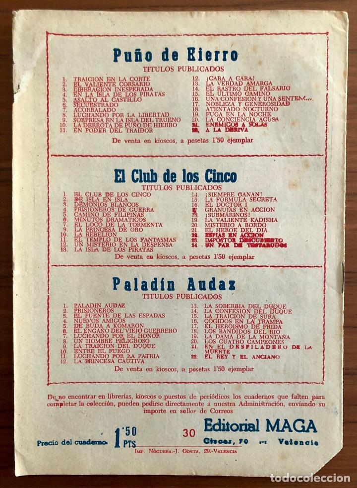 Tebeos: NUMERO 30 EL PEQUEÑO HEROE (MAGA 1956). ORIGINAL BUEN ESTADO - Foto 5 - 149902538
