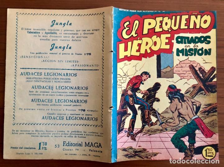 Tebeos: NUMERO 53 EL PEQUEÑO HEROE (MAGA 1956). ORIGINAL - Foto 2 - 149904402