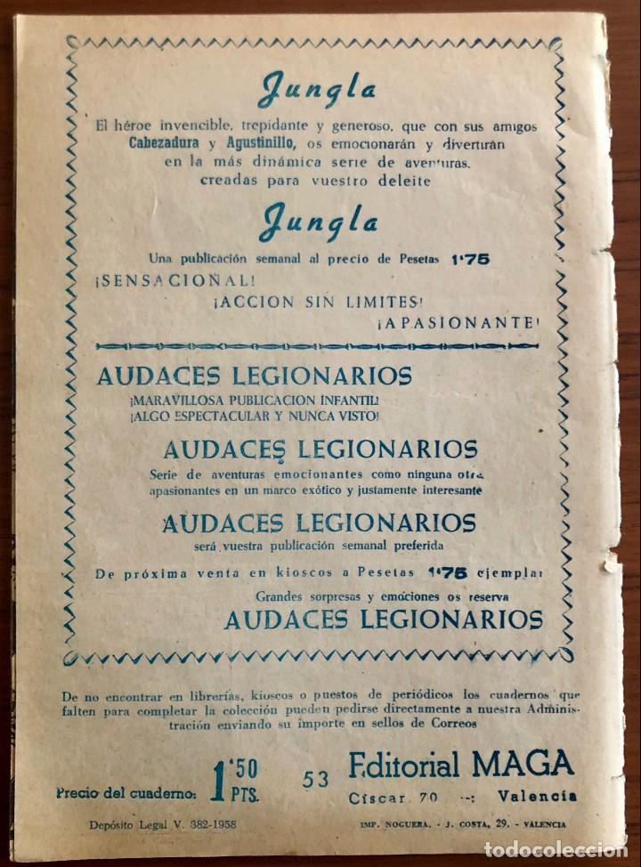 Tebeos: NUMERO 53 EL PEQUEÑO HEROE (MAGA 1956). ORIGINAL - Foto 8 - 149904402