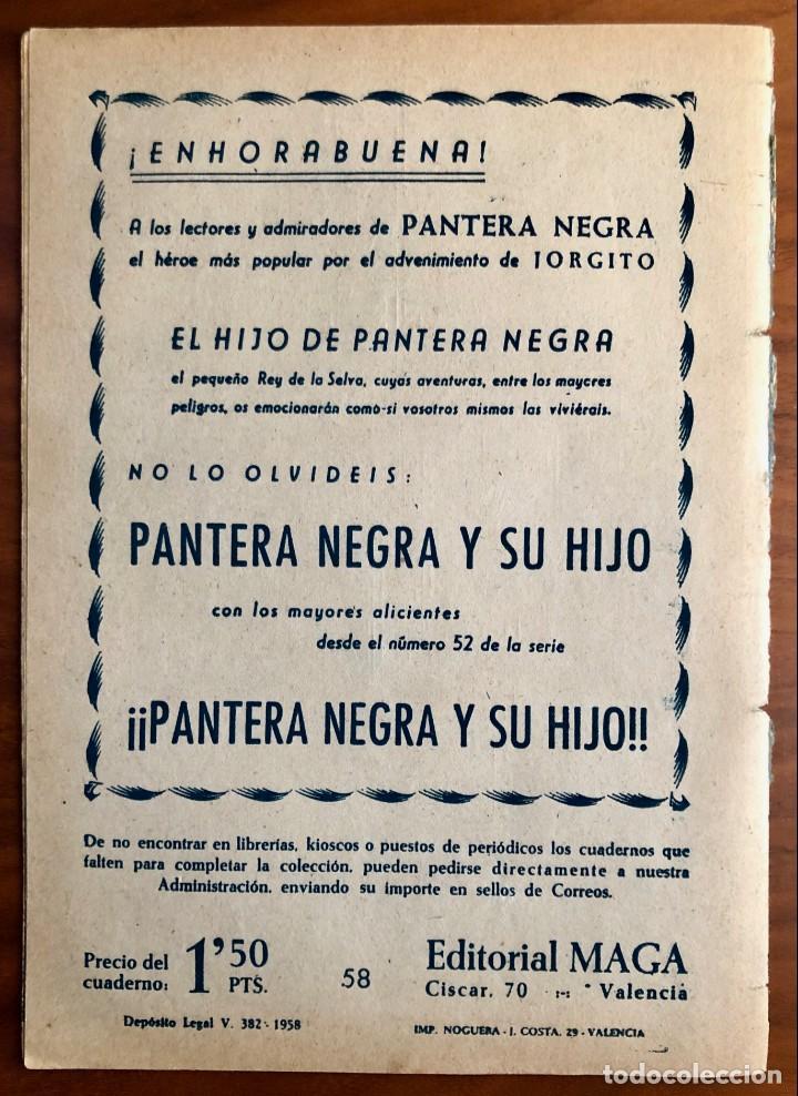 Tebeos: NUMERO 58 EL PEQUEÑO HEROE (MAGA 1956). ORIGINAL - Foto 7 - 149904602