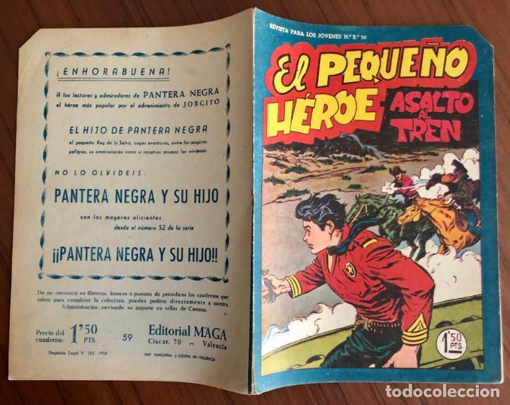 Tebeos: NUMERO 59 EL PEQUEÑO HEROE (MAGA 1956). ORIGINAL BUEN ESTADO - Foto 4 - 149904874