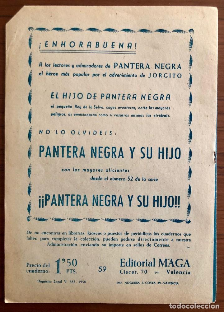 Tebeos: NUMERO 59 EL PEQUEÑO HEROE (MAGA 1956). ORIGINAL BUEN ESTADO - Foto 5 - 149904874