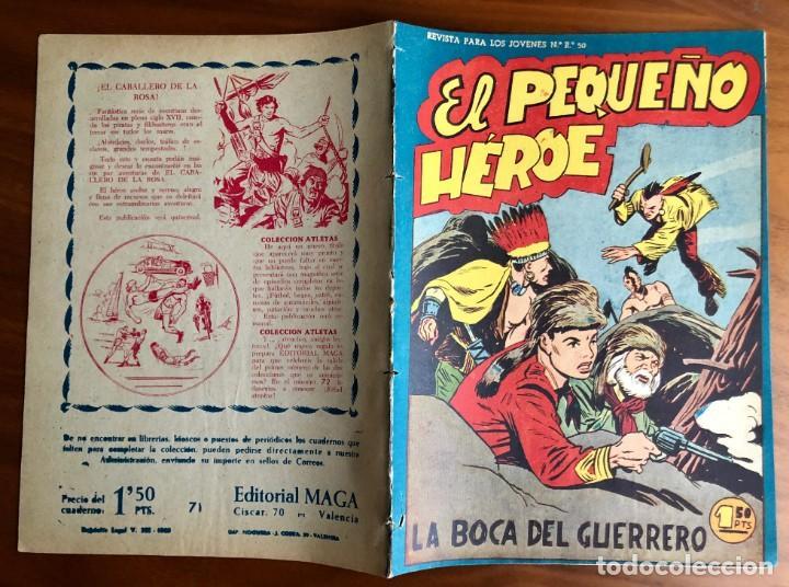 Tebeos: NUMERO 71 EL PEQUEÑO HEROE (MAGA 1956). ORIGINAL - Foto 2 - 149905190