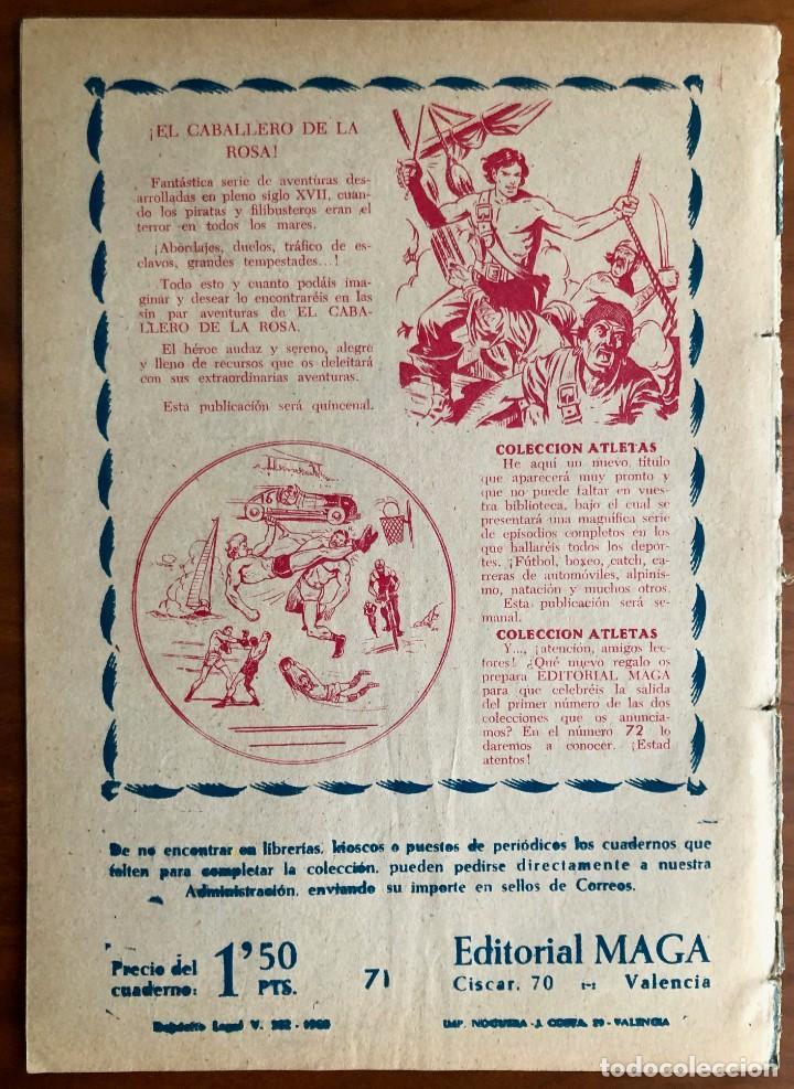 Tebeos: NUMERO 71 EL PEQUEÑO HEROE (MAGA 1956). ORIGINAL - Foto 8 - 149905190