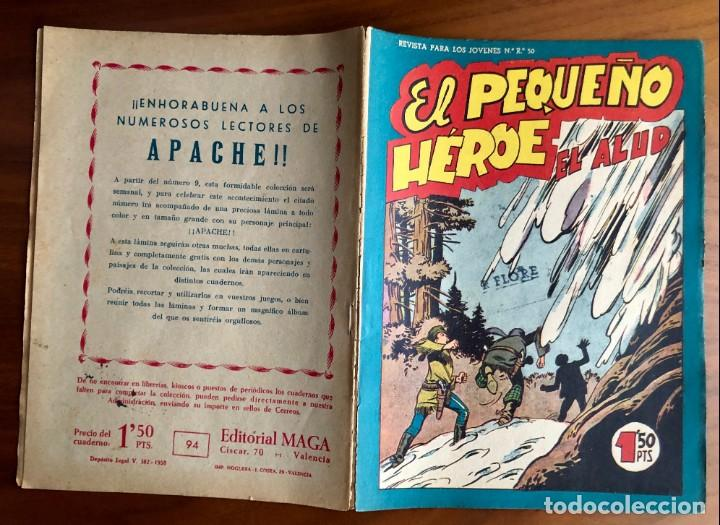 Tebeos: NUMERO 94 EL PEQUEÑO HEROE (MAGA 1956). ORIGINAL - Foto 2 - 149905358