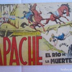 Tebeos: APACHE , NUMERO 42 , EL RIO DE LA MUERTE , MAGA. Lote 151571554