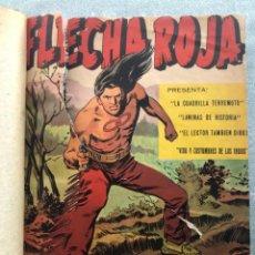 Tebeos: FLECHA ROJA REVISTA COMPLETA 65 NUMEROS ORIGINALES. MAGA 1964. ENCUADERNADA. Lote 152764702