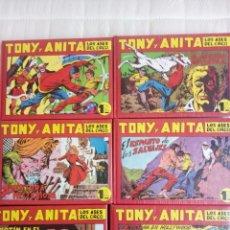 Tebeos: TONY Y ANITA , COMPLETA EN 6 TOMOS DE LUJO + LOS 5 ALMANAQUES Y EL EXTRA DE VERANO . GAGO Y QUESADA. Lote 154536974