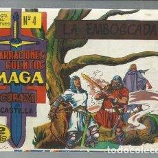 Tebeos: NARRACIONES Y CUENTOS MAGA: CORAZA DE CASTILLA 4, 1964, MAGA, IMPECABLE. Lote 154737986