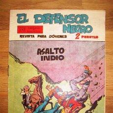 Tebeos: EL DEFENSOR NEGRO. Nº 22 : ASALTO INDIO (SERIE CARAVANAS Y RANCHEROS). Lote 155950542