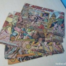 Tebeos: LOTE 7 TEBEOS COMICS EDITORIAL MAGA EL AGUILUCHO ORIGINAL. Lote 156804274