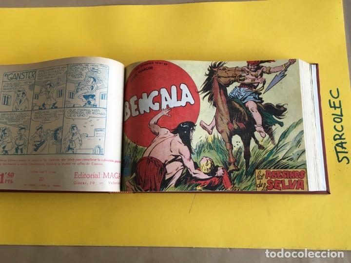 BENGALA 1ª SERIE. 1 TOMO CON 54 Nº. AÑO 1959. EDITORIAL MAGA (Tebeos y Comics - Maga - Bengala)
