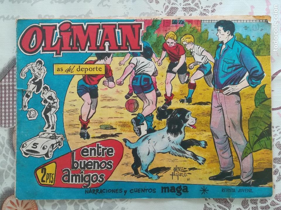 OLIMAN Nº 22 CON SEVILLA CLUB DE FUTBOL (Tebeos y Comics - Maga - Oliman)