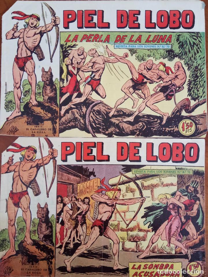 COLECCIÓN PIEL DE LOBO Nº 41, 43 - LA SOMBRA ACUSADORA Y LA PERLA DE LA LUNA (Tebeos y Comics - Maga - Piel de Lobo)