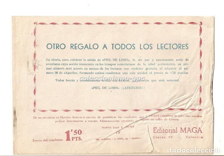 Tebeos: APACHE nº 19 TEBEO ORIGINAL 1958 CAMINO DE VENGANZA Editorial MAGA OFERTA !! Mira !! - Foto 2 - 163339466