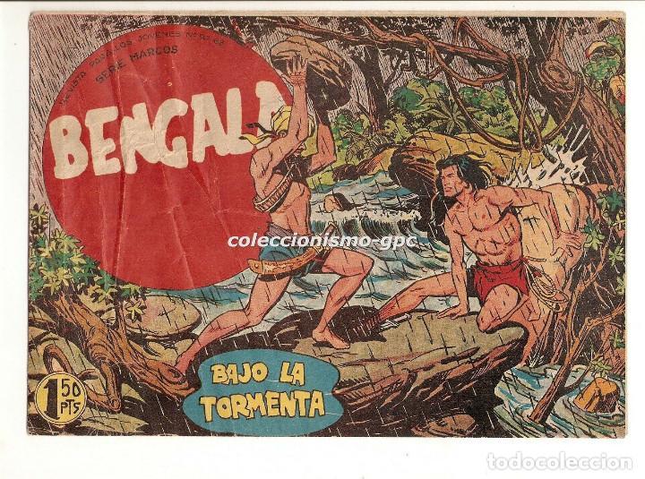 BENGALA Nº 5 TEBEO ORIGINAL 1959 BAJO LA TORMENTA SERIE MARCOS EDITORIAL MAGA OFERTA !! MIRA !! (Tebeos y Comics - Maga - Bengala)