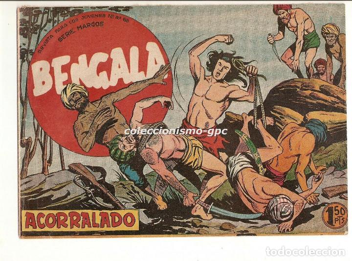 BENGALA Nº 3 TEBEO ORIGINAL 1959 ACORRALADO SERIE MARCOS EDITORIAL MAGA OFERTA !! MIRA !! (Tebeos y Comics - Maga - Bengala)