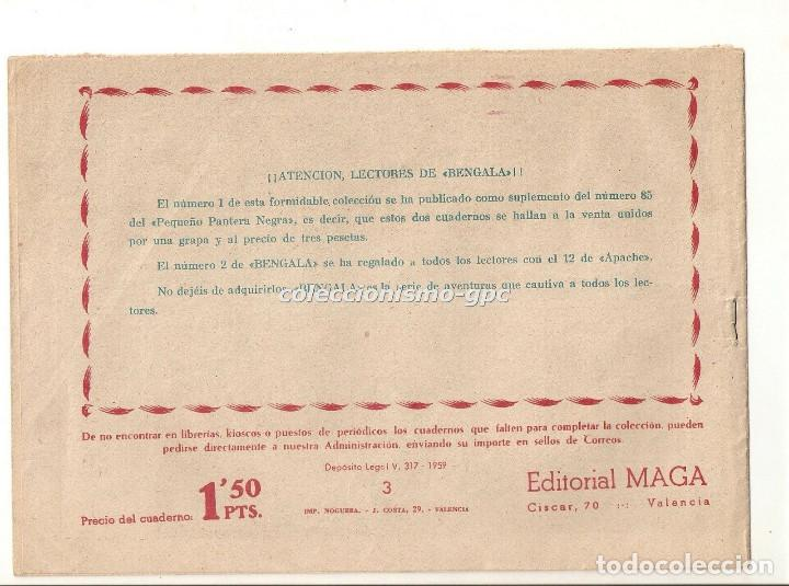 Tebeos: BENGALA nº 3 TEBEO ORIGINAL 1959 ACORRALADO Serie MARCOS Editorial MAGA OFERTA !! MIRA !! - Foto 2 - 163385494