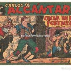 Tebeos: CARLOS DE ALCANTARA Nº 11 TEBEO ORIGINAL 1955 LUCHA EN LA FORTALEZA EDIT. MAGA BUEN ESTADO MIRA !!. Lote 163407542