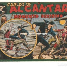 Tebeos: CARLOS DE ALCANTARA Nº 5 TEBEO ORIGINAL 1955 MOMENTO DECISIVO EDITORIAL MAGA BUEN ESTADO MIRA !!. Lote 163408654