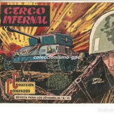 Tebeos: COLECCION COMANDOS Nº 14 TEBEO ORIGINAL 1957 CERCO INFERNAL EDITORIAL VALENCIANA OFERTA ! MIRA !!. Lote 163550922