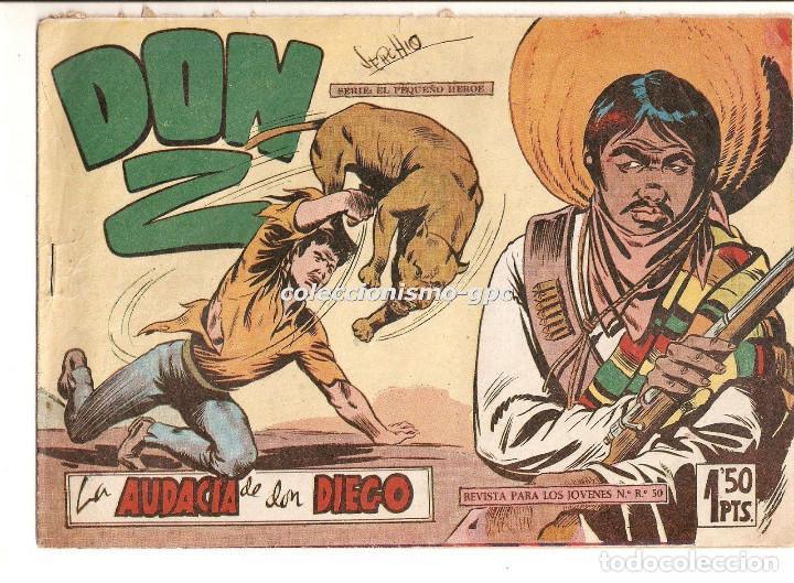 DON Z Nº 6 TEBEO ORIGINAL 1959 LA AUDACIA DE DON DIEGO EDITORIAL MAGA SERCHIO BUEN ESTADO OFERTA !! (Tebeos y Comics - Maga - Don Z)