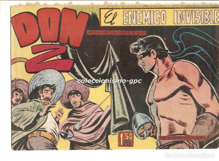 DON Z Nº 7 TEBEO ORIGINAL 1959 EL ENEMIGO INVISIBLE EDITORIAL MAGA SERCHIO AMOROS BUEN ESTADO OFERTA (Tebeos y Comics - Maga - Don Z)