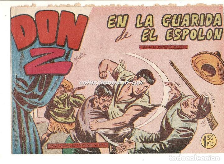 DON Z Nº 9 TEBEO ORIGINAL 1959 EN LA GUARIDA DE EL ESPOLON EDITORIAL MAGA SERCHIO BUEN ESTADO OFERTA (Tebeos y Comics - Maga - Don Z)