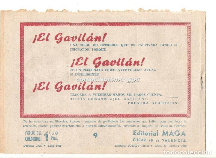 Tebeos: DON Z nº 9 TEBEO ORIGINAL 1959 EN LA GUARIDA DE EL ESPOLON Editorial MAGA Serchio Buen Estado Oferta - Foto 2 - 191998852